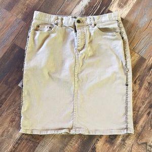 Lauren Jeans Co. Denim Knee Length Skirt